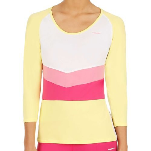 HEAD Performance Amy Long Sleeve Women - White, Yellow