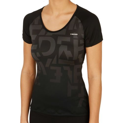 HEAD Performance Abby Round Neck T-Shirt Women - Black