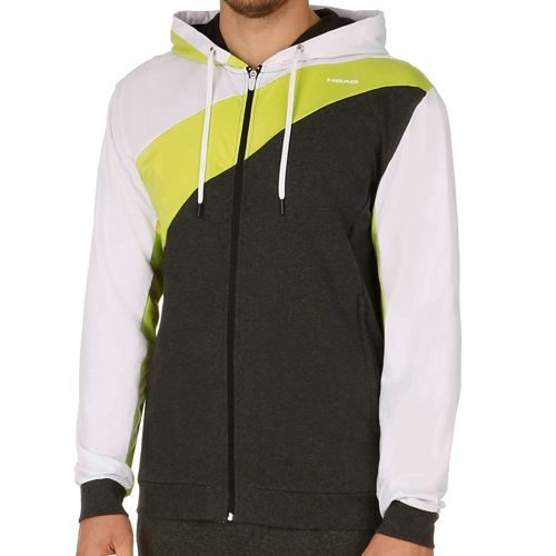 HEAD Axel Hoody Full Zip Training Jacket Men - Anthracite, Light Green