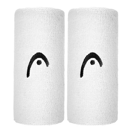 HEAD 5' ( Pack ) Wristband 2 Pack - White