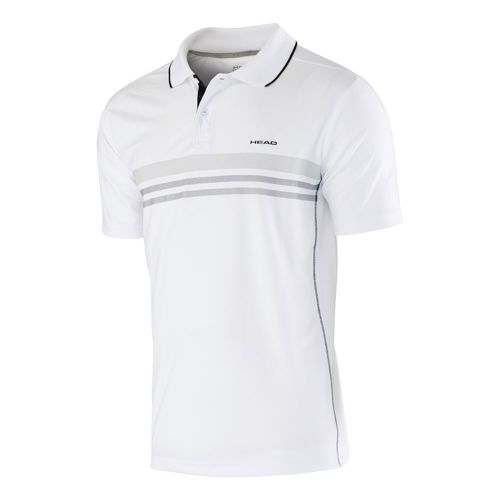 HEAD Club Shirt Technical Polo Boys - White, Black