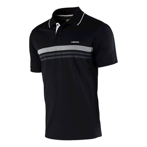 HEAD Club Shirt Technical Polo Boys - Black