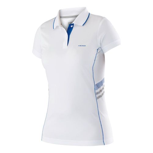 HEAD Club Shirt Technical Polo Girls - White, Blue