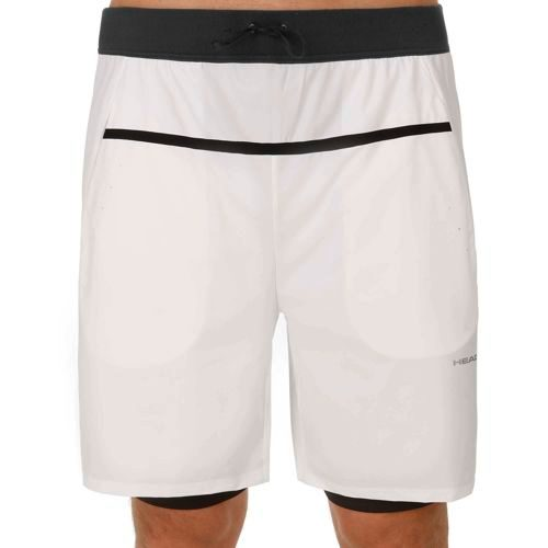 HEAD Performance Couture 2in1 Shorts Men - White, Black
