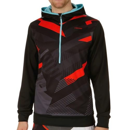 HEAD Vision Coby Tech Hoody Men - Black, Lightred