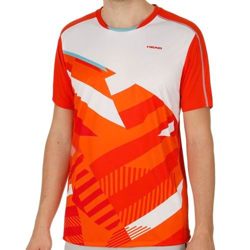 HEAD Vision Cay T-Shirt Men - Lightred, Orange