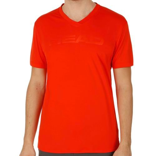 HEAD Transition T4S V-Neck T-Shirt Men - Lightred