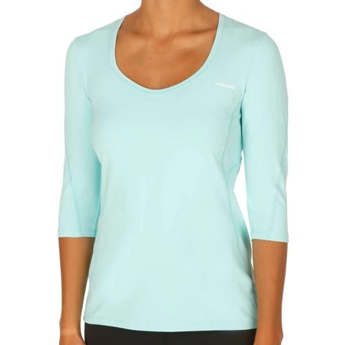 HEAD Performance Round Neck 3/4 Long Sleeve Women - Turquoise