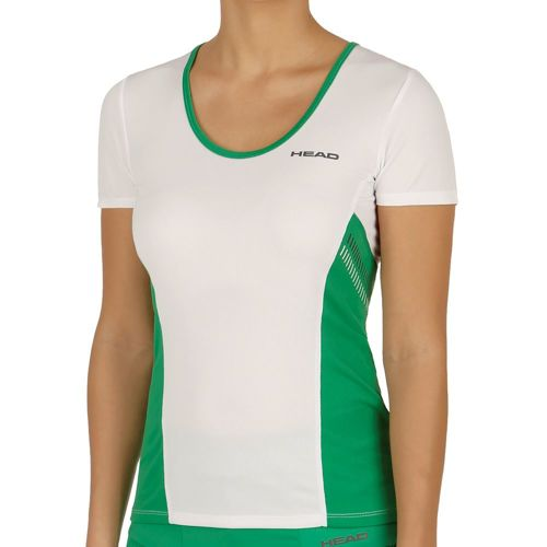 HEAD Club Technical T-Shirt Women - White, Green