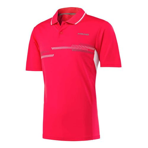 HEAD Club Technical Polo Boys - Red, White