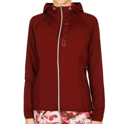 HEAD Vision Light Training Jacket Women - Dark Red, Silver