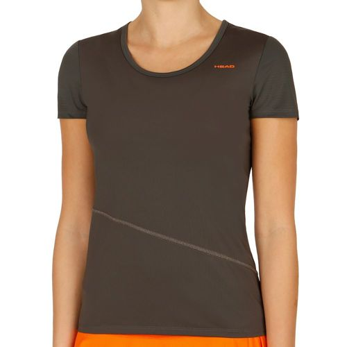HEAD Vision T-Shirt Women - Dark Grey, Orange