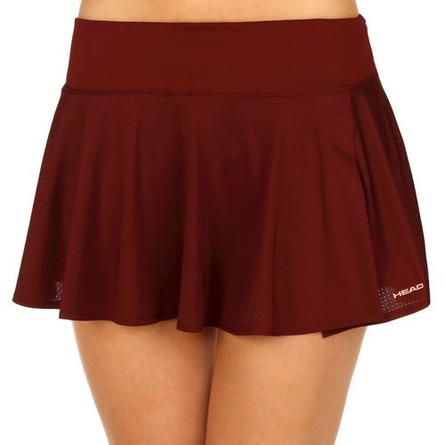 HEAD Vision Skirt Women - Dark Red, Orange
