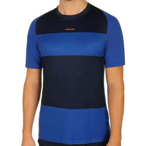 HEAD Vision Striped T-Shirt Men - Dark Blue, Blue