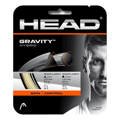 HEAD Gravity String Set 12m - White, Grey