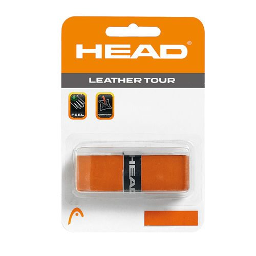 HEAD Leather Tour Grip 1 Pack - Orange