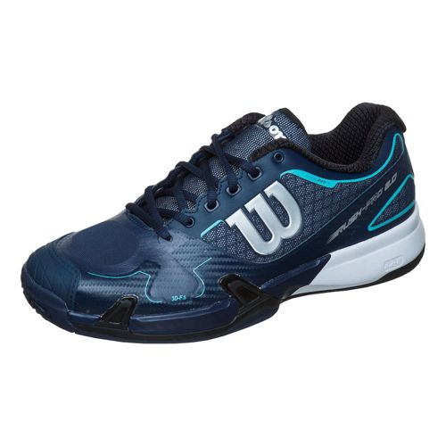 Wilson Rush Pro 2.0 All Court Shoe Men - Dark Blue, Turquoise