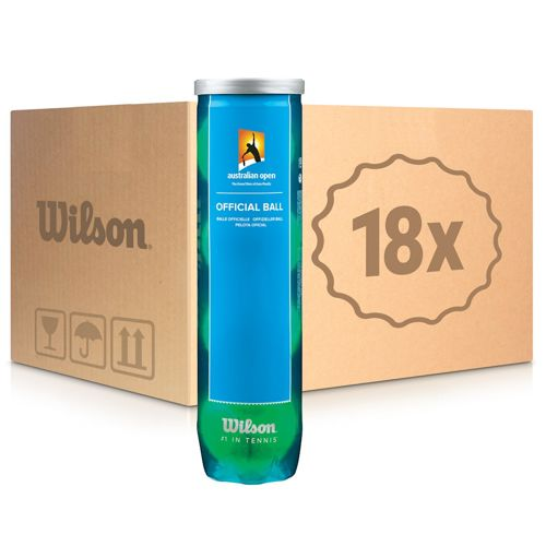 Wilson Australian Open 18x 4 Ball Tube In A Carton