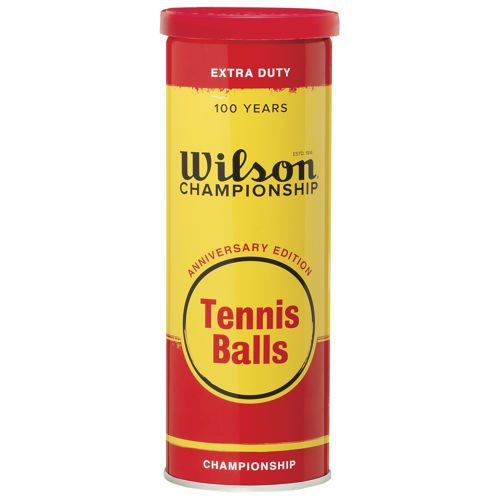 Wilson Anniversary Metal White 3 Ball Tube