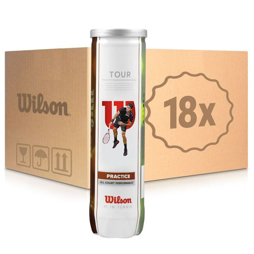 Wilson Tour Practice 18x 4 Ball Tube In A Box
