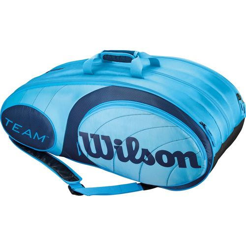 Wilson Tour Team Racket Bag 12 Pack - Light Blue, Blue
