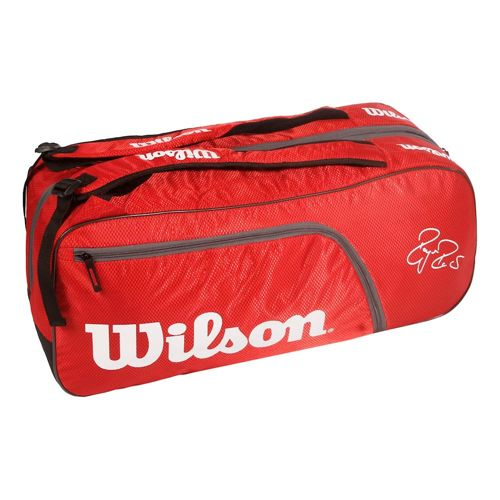 Wilson Federer Team Racket Bag 6 Pack - Red