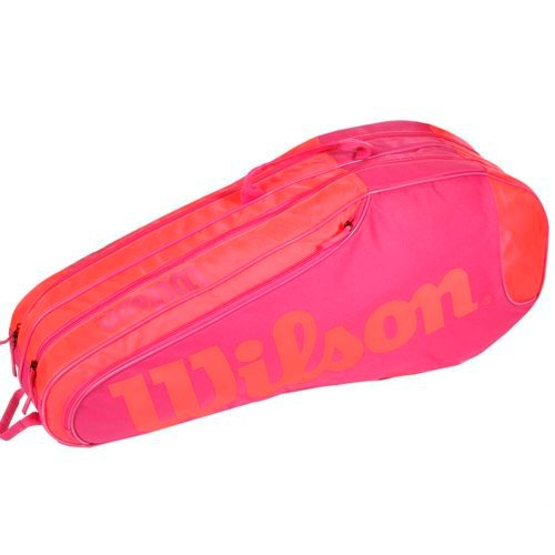 Wilson Burn Team Rush Racket Bag 6 Pack - Red, Pink