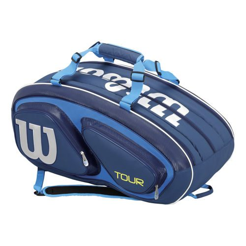 Wilson Tour V 15 Pack Racket Bag - Blue, White