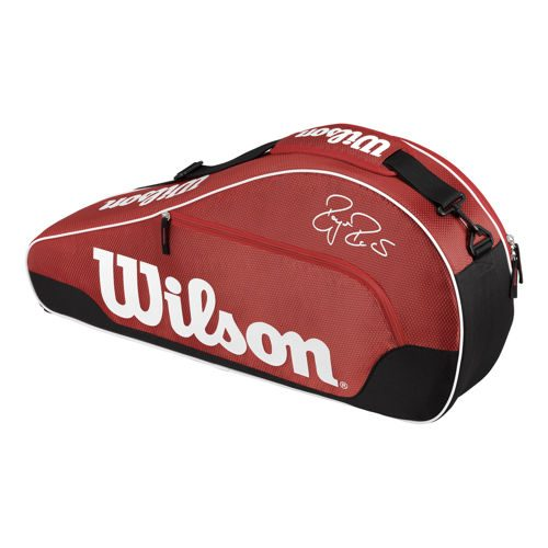 Wilson Federer Team III Racketbag Racket Bag 3 Pack - Red