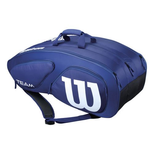 Wilson Tour Team II Navy Racket Bag 12 Pack - Dark Blue