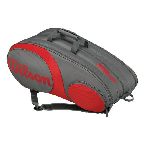 Wilson Team Racket Bag 12 Pack - Grey, Red