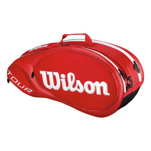 Wilson Tour Molded 2.0 Racket Bag 6 Pack - Red