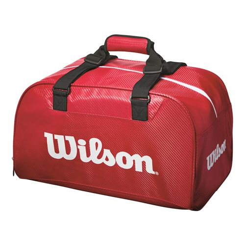 Wilson Tour Red Duffel Small Sports Bag - Red, White