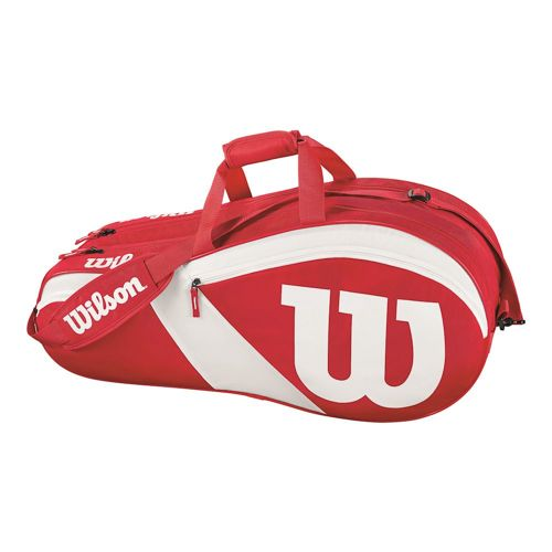 Wilson Match III Racket Bag 6 Pack - Red, White
