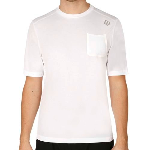 Wilson Textured Crew T-Shirt Men - White