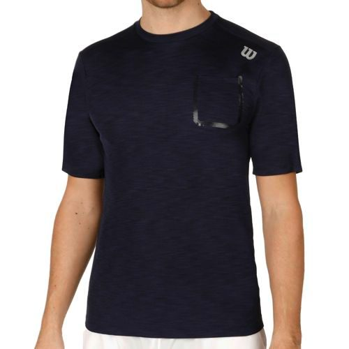 Wilson Textured Crew T-Shirt Men - Dark Blue