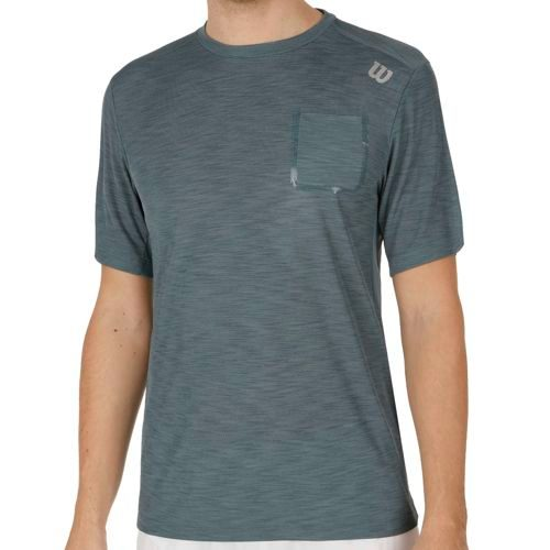 Wilson Textured Crew T-Shirt Men - Grey, Blue