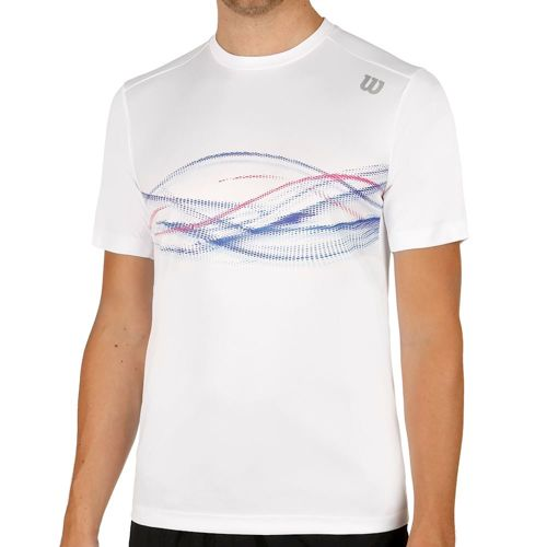 Wilson Late Summer Soundwave Print Crew T-Shirt Men - White