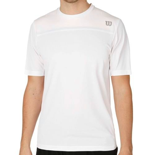Wilson Knit Stretch Woven Crew T-Shirt Men - White