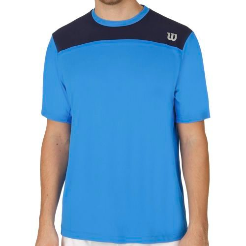 Wilson Knit Stretch Woven Crew T-Shirt Men - Blue