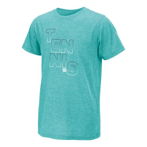Wilson Outline Tech T-Shirt Girls - Turquoise