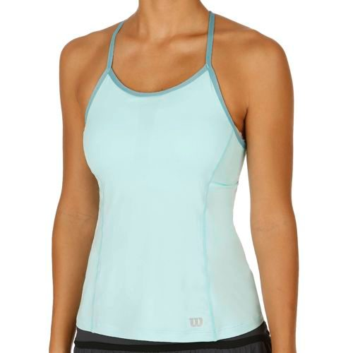 Wilson Strappy Tank Top Women - Turquoise