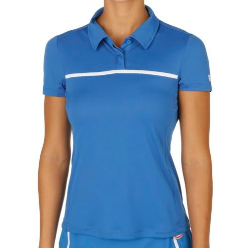 Wilson Team Polo Women - Blue, White