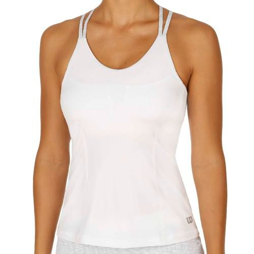 Wilson Double Strap Tank Top Women - White