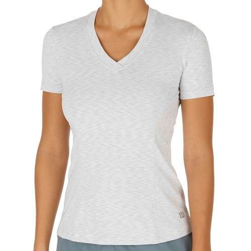 Wilson Striated Top Capsleeve Women - White