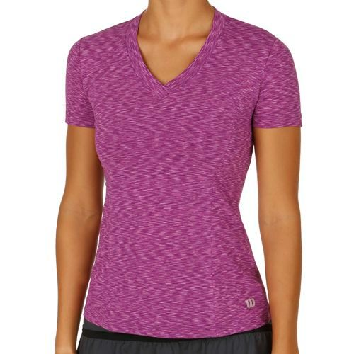 Wilson Striated Top Capsleeve Women - Violet