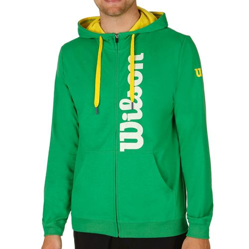Wilson Full Zip Zip Hoodie Men - Green, Yellow