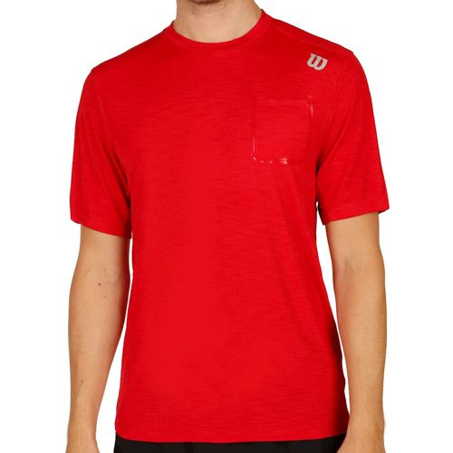 Wilson Textured Crew T-Shirt Men - Red
