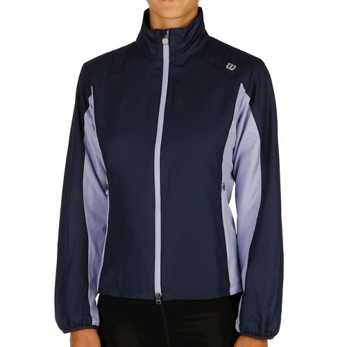 Wilson Rush Windbreaker Training Jacket Women - Dark Blue, Grey