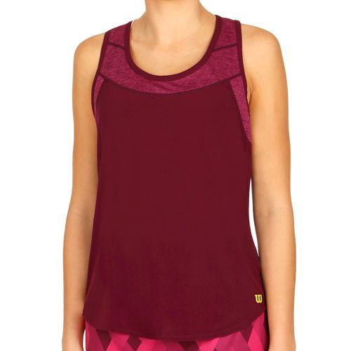 Wilson UW II Hybrid Tank Top Women - Dark Red, Violet